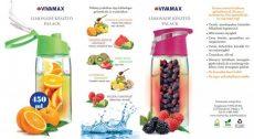 VIVAMAX Limonádé készítő palack rózsaszín 450 ml GYVL2R